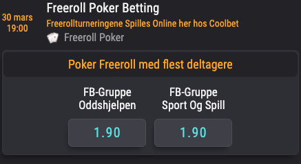 Odds poker duell