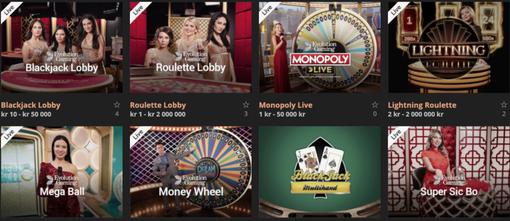 Live Casino Storspiller
