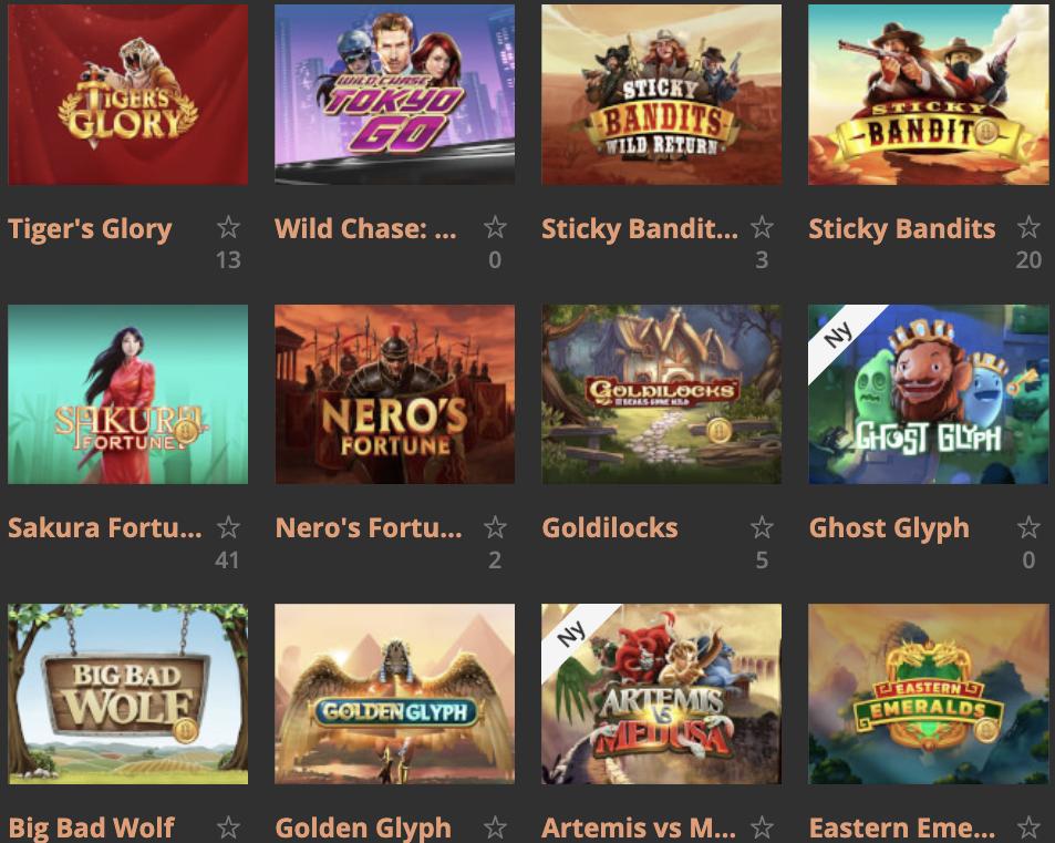 Vinne 1 million på utvalgte spilleautomater